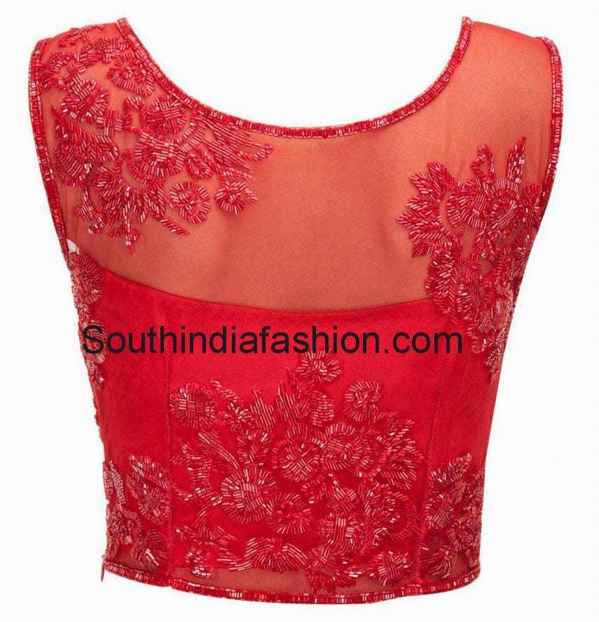 Cut dana work blouse south india fashion for Glass cut work designs