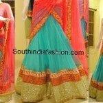 Charming Pastel Colors Half Saree