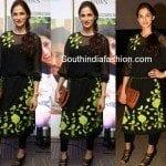 Shilpa Reddy in Black Tunic and Leggings