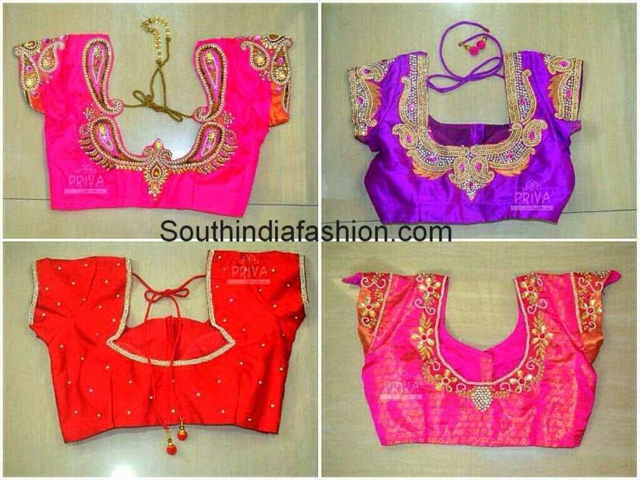 wedding saree blouse designs