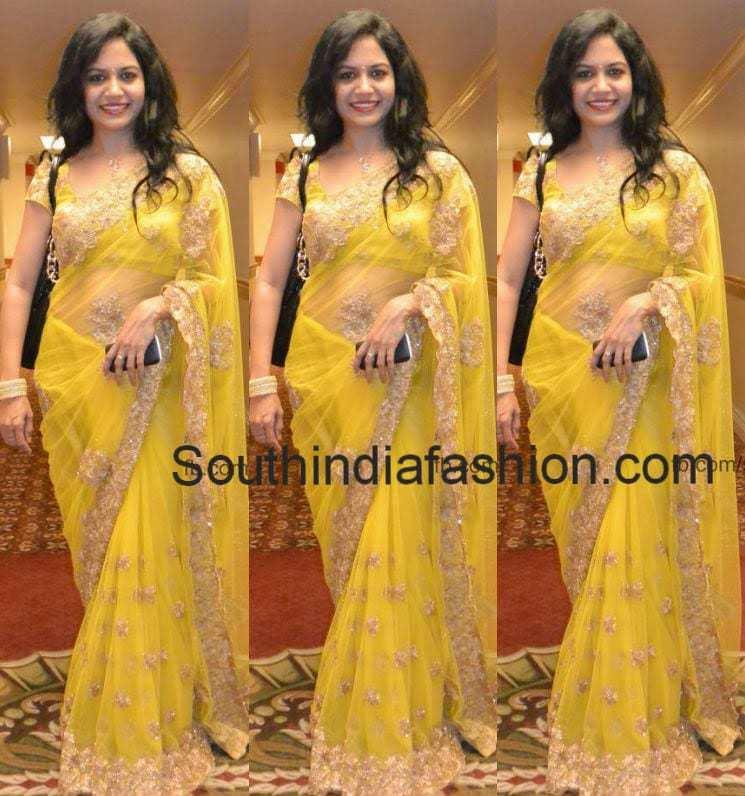 singer sunitha latest sarees
