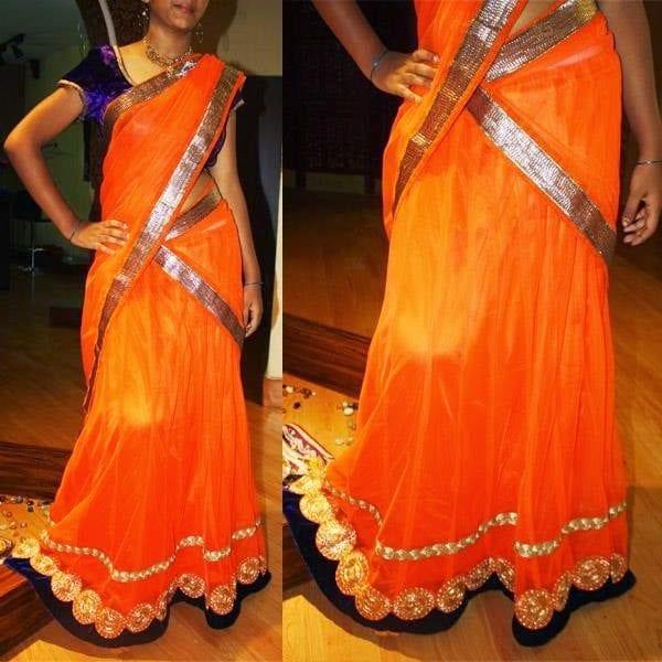 latest designer half sarees