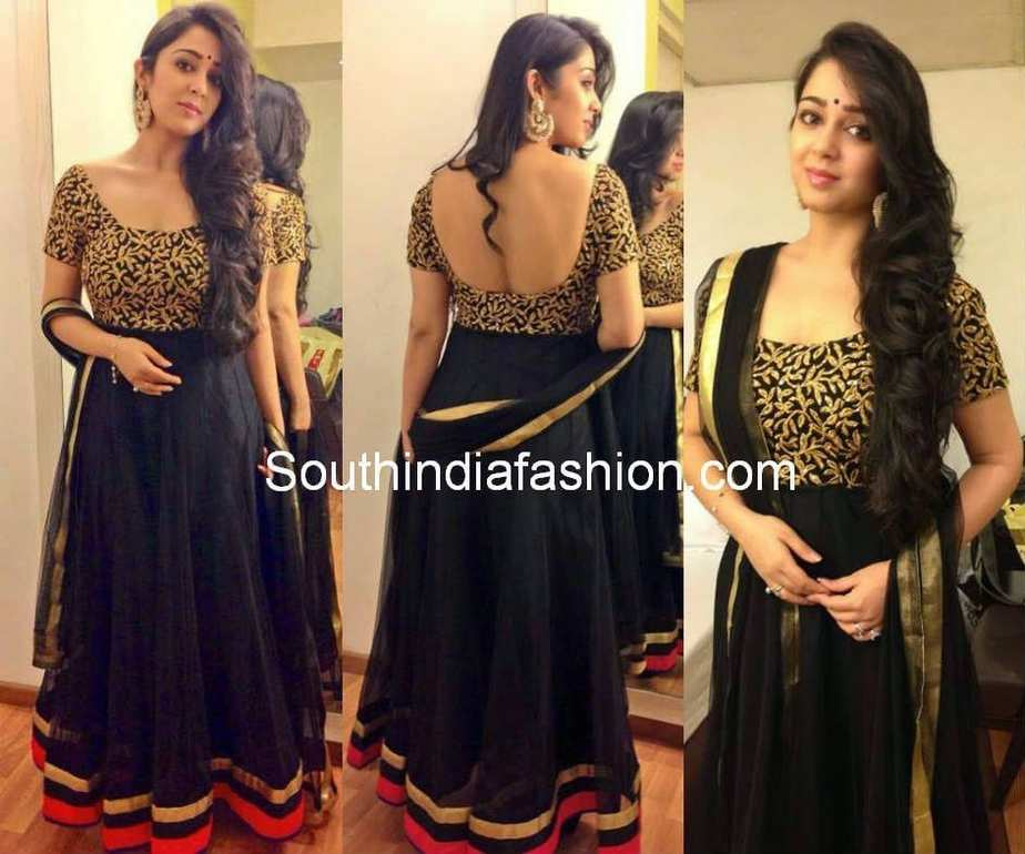 charmi in black anarkali