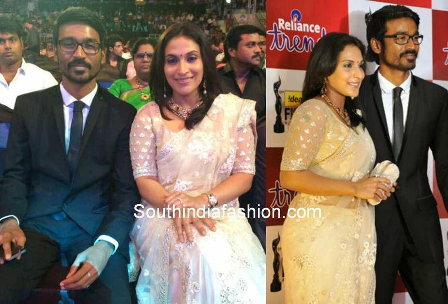 aishwarya dhanush at south filmfare awards 2014