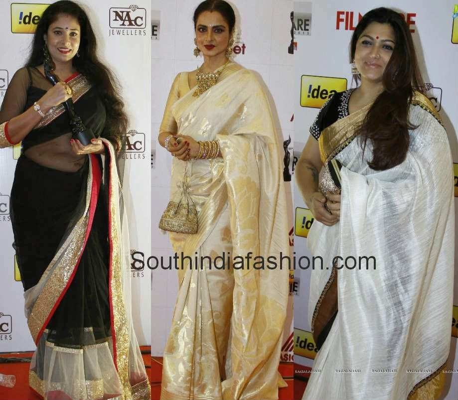 celebrities at south filmfare awards 2014