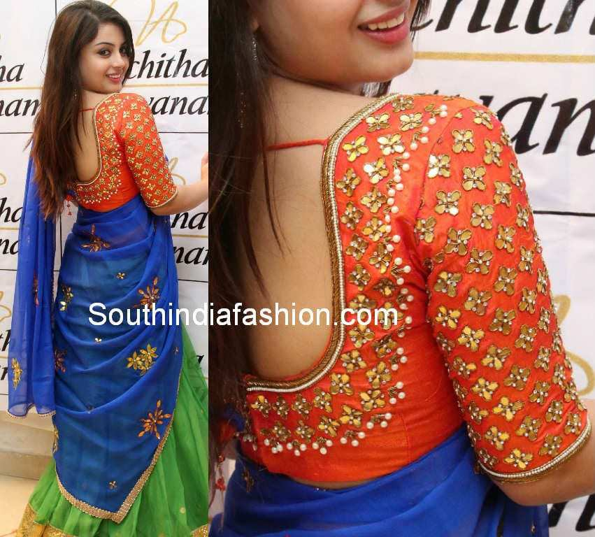 suhani in half saree