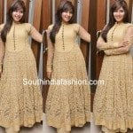 Anjali in Gold Floor Length Anarkali