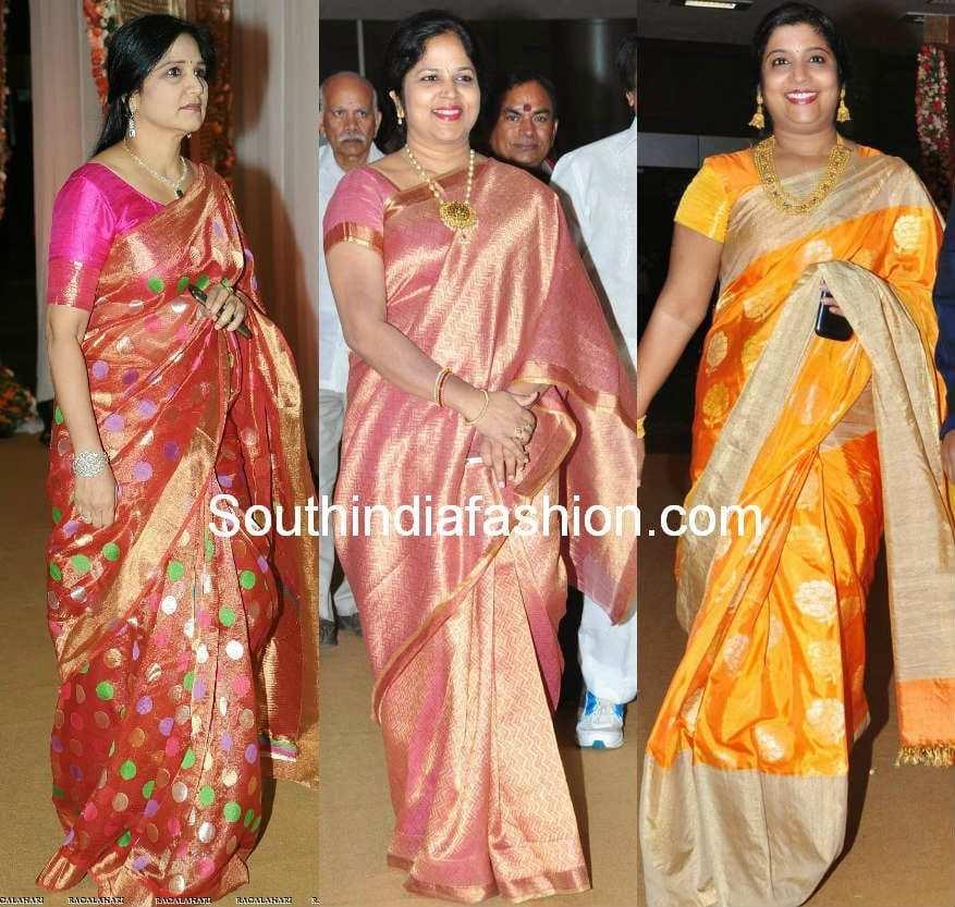 Celebrity Silk Saree Styles South India Fashion