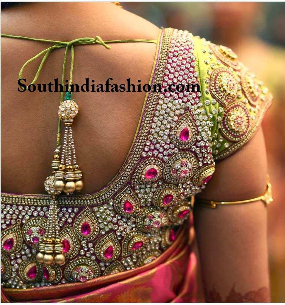 Beautiful Bridal Saree Blouse