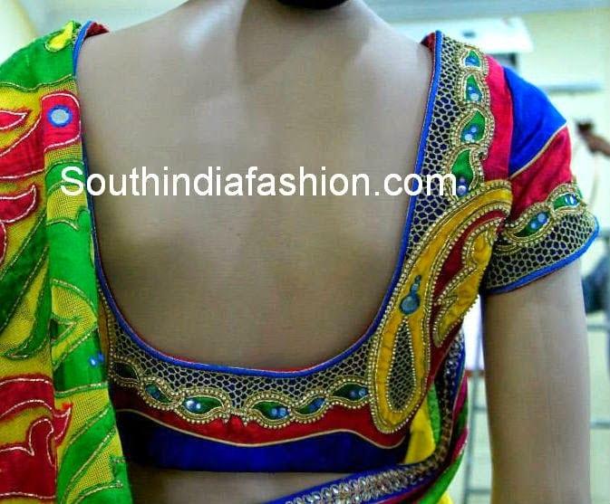cut work blouse 4