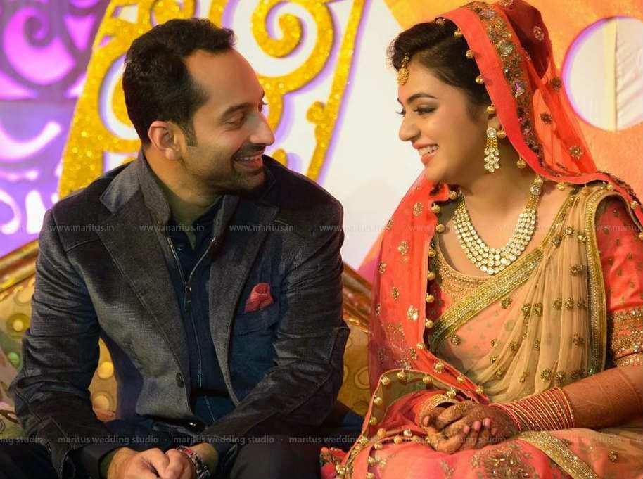 nazria and fahad wedding reception