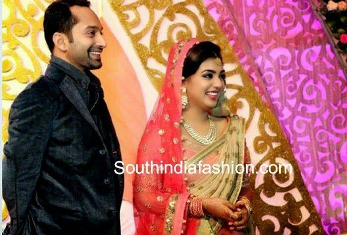 Nazriya Nazim and Fahad Fazil Wedding reception