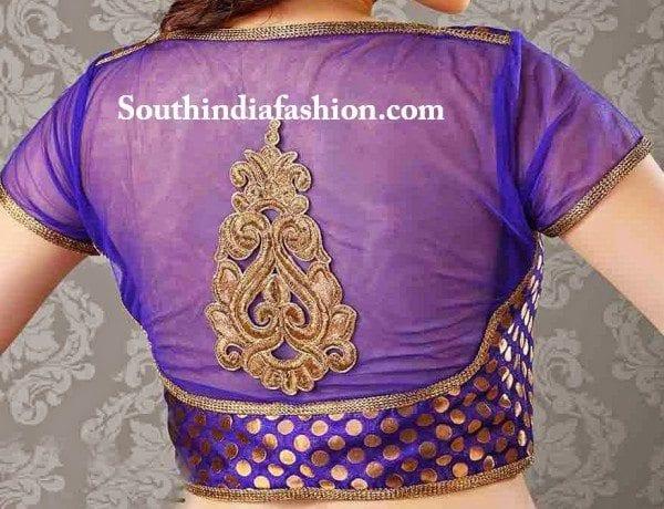 net designer saree blouse