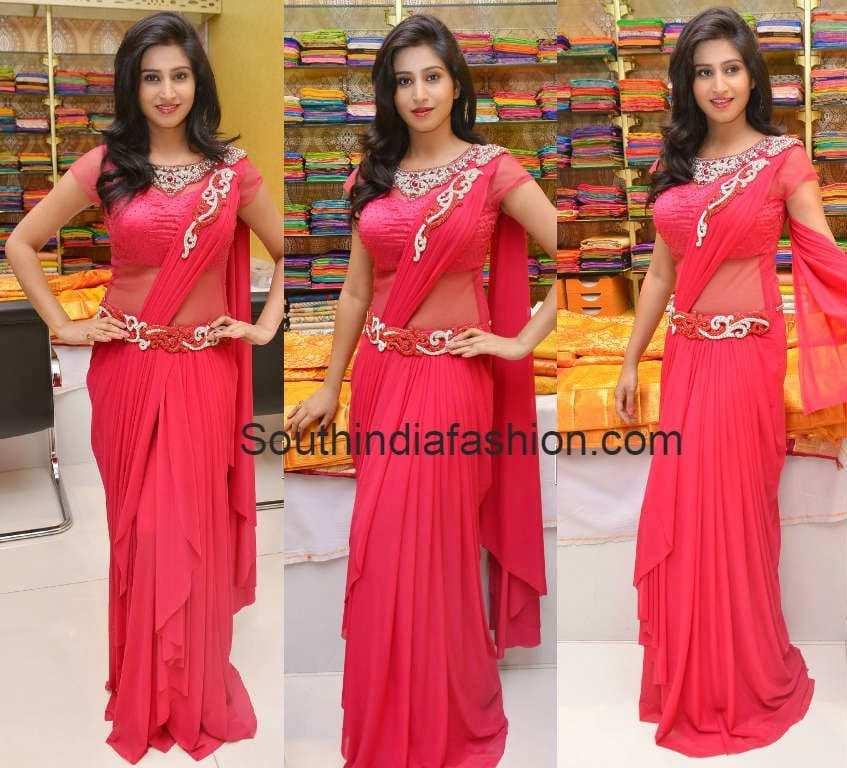 Shamili in Trisha Trends Saree Gown