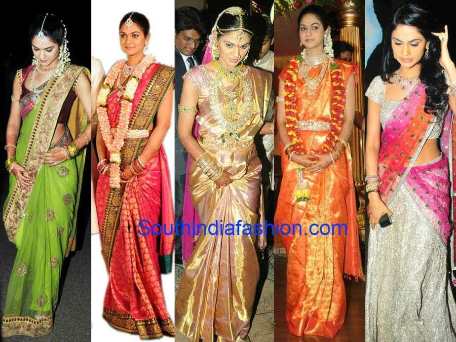 sneha reddy wedding sarees