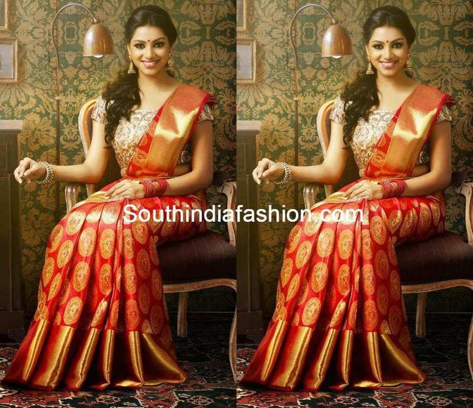 Stunning Kanchipuram Wedding Silk Saree – South India Fashion