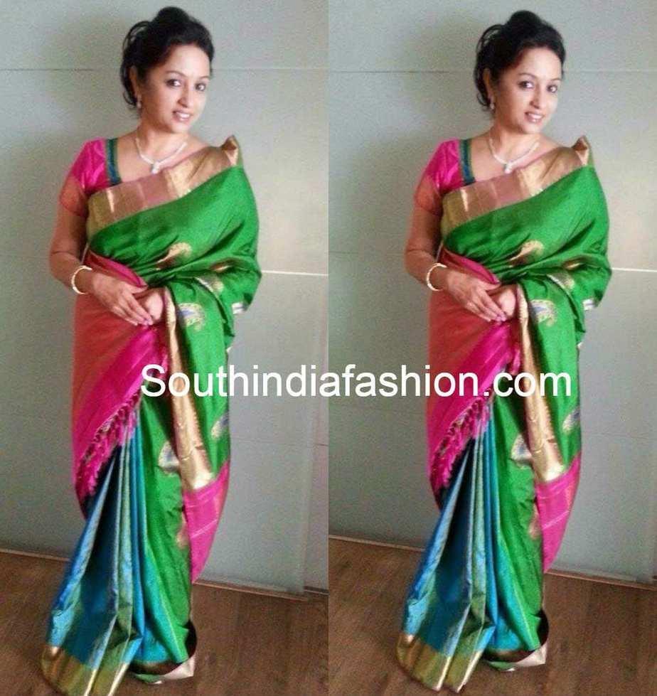 Uma Krishnan In Bridal Saree South India Fashion
