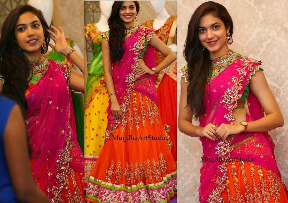 Rani Pink Colour Designer Half Saree Fashion Trends Page 2 Of 39