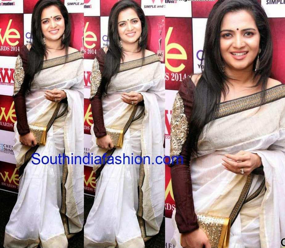 divyadarshini in white saree at WE Awards