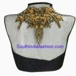 Trendy Net Blouse with Metallic Embroidery