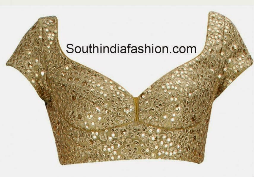 Gold Color designer Blouse • South India Fashion