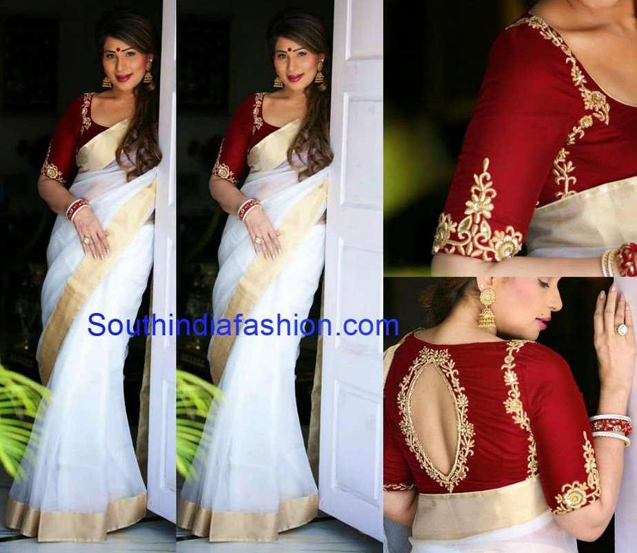 shreedevi chowdary white saree
