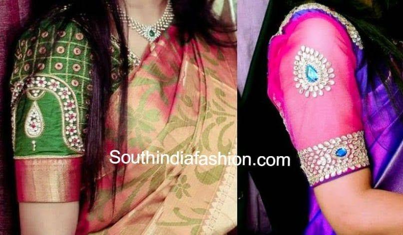 Silk Saree Blouse Designs1 Wedding Designs