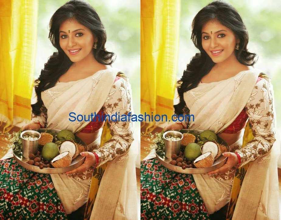 anjali in gaurang shah half saree