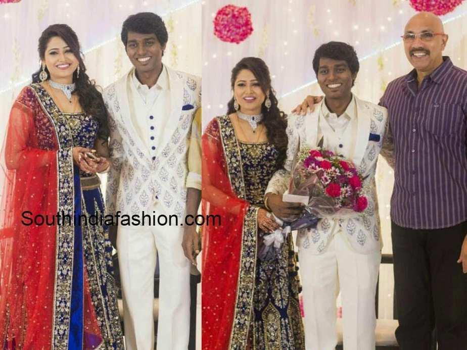 atlee priya wedding reception photos
