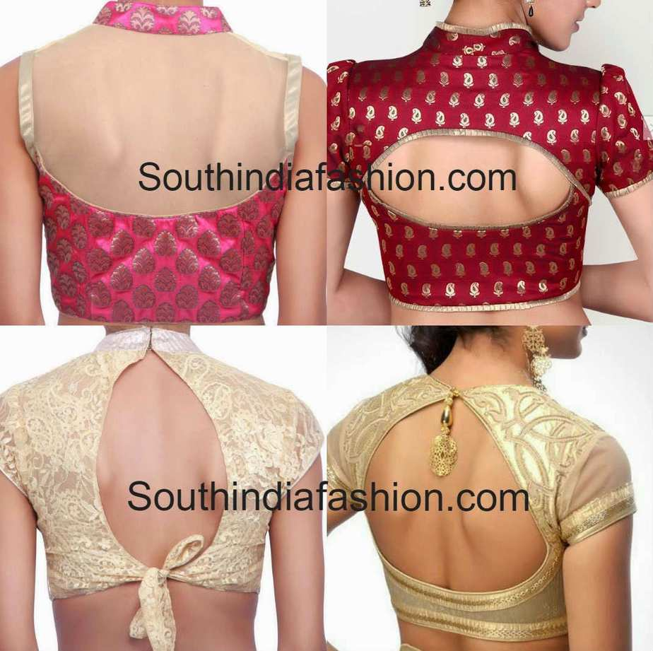 Stand Neck Blouse Designs : Collar neck blouse patterns styles