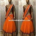 Simple and Stylish Half Saree