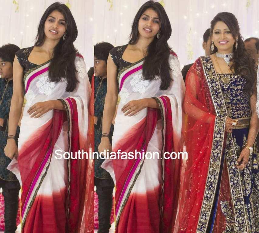 dhanshika at atlee priya wedding reception