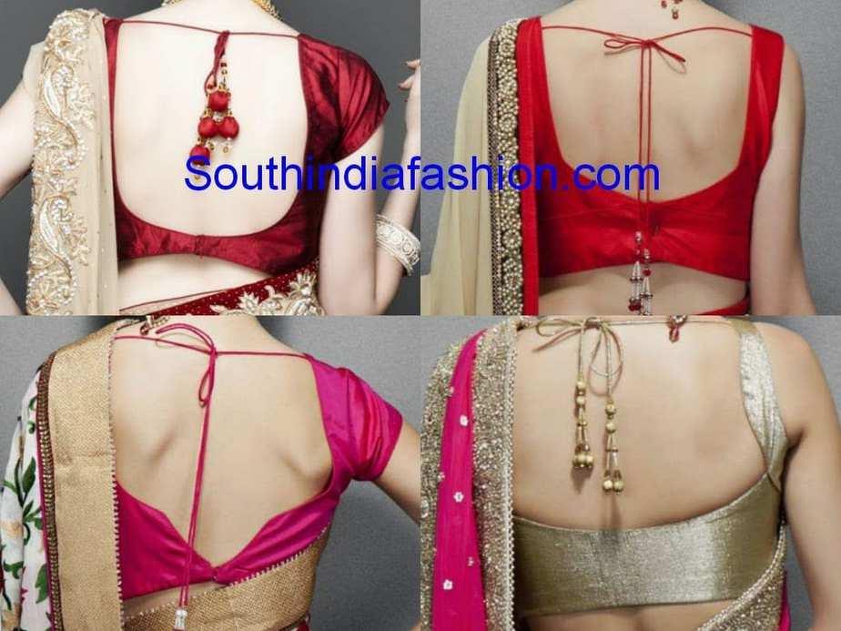 Latest saree blouse design neck - Simple Blouse Back Neck Styles