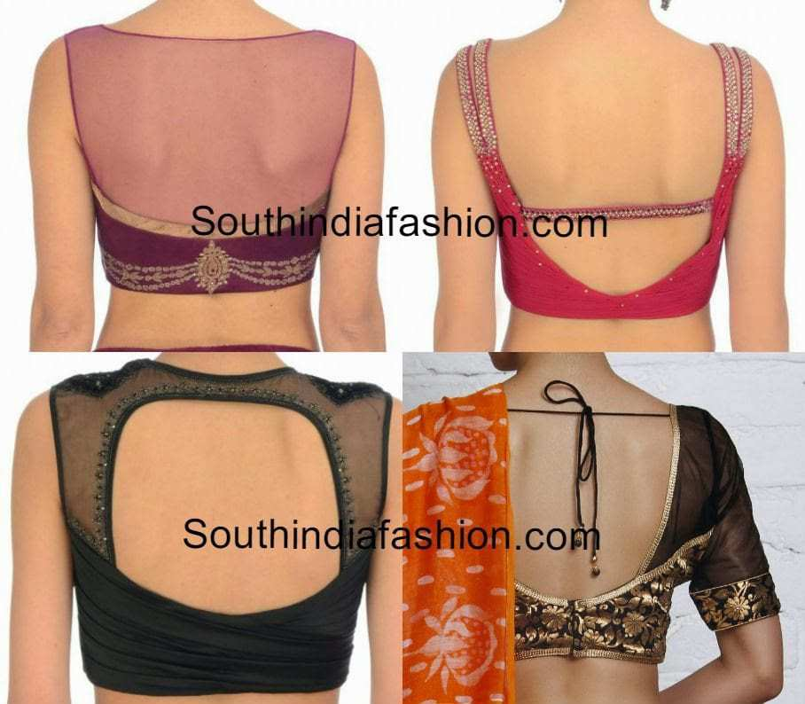 Net Blouse Back Neck Designs 87