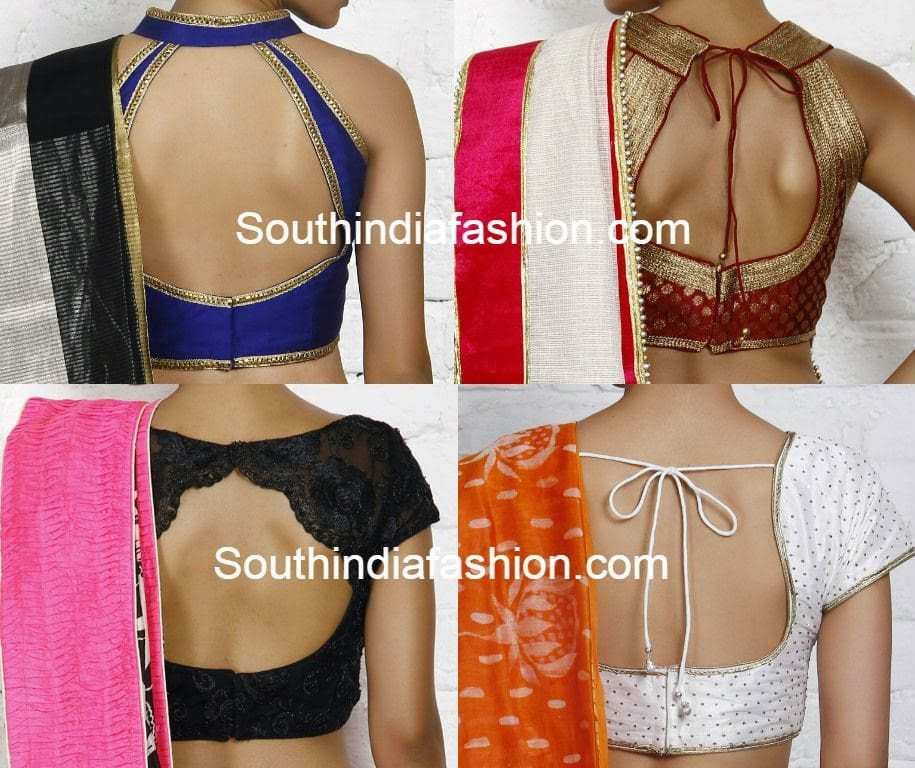 Blouse Back Neck Patterns Images 83