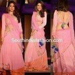 Shraddha Das in Pink Half Saree