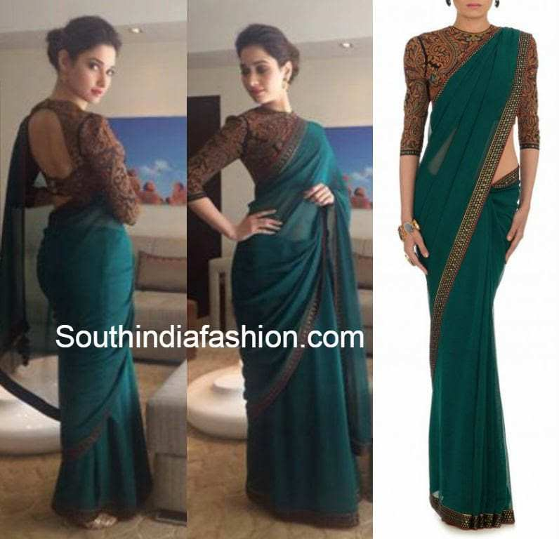 tamanna saree for konchem touch lo vinte chepta show