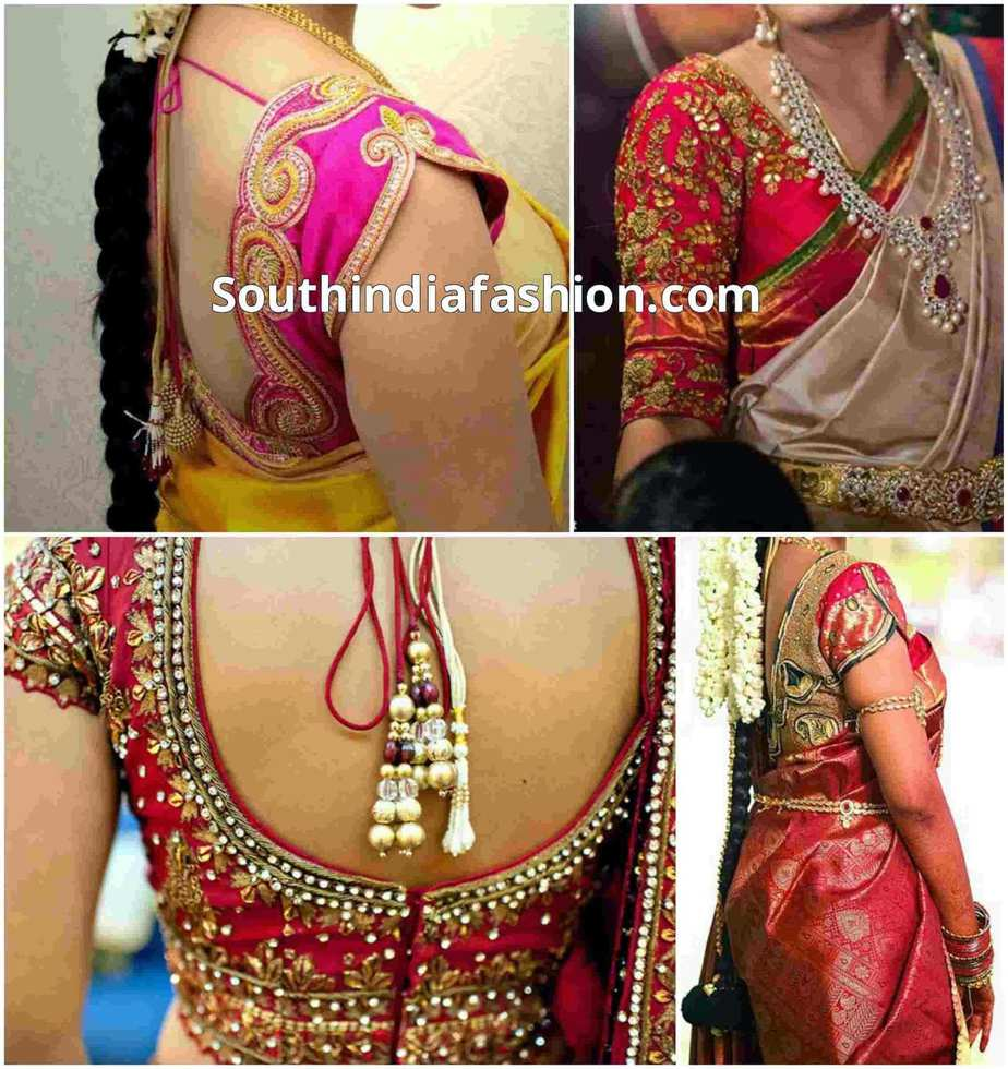blouse designs for wedding sarees �south india fashion