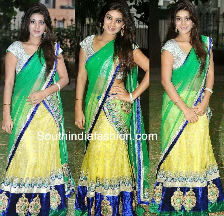 yamini in half saree
