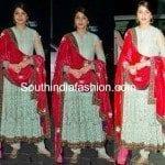 Anushka Sharma in Sabyasachi Anarkali