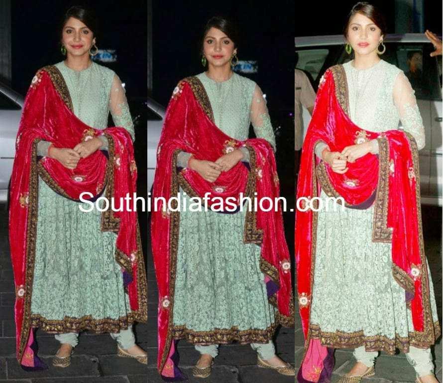 Anushka Sharma in Sabyasachi Anarkali –South India Fashion Sabyasachi Anarkali 2014