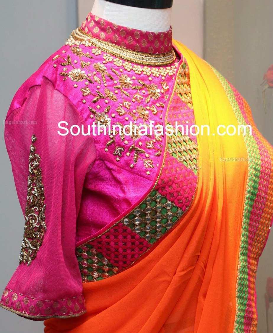 high neck blouse models