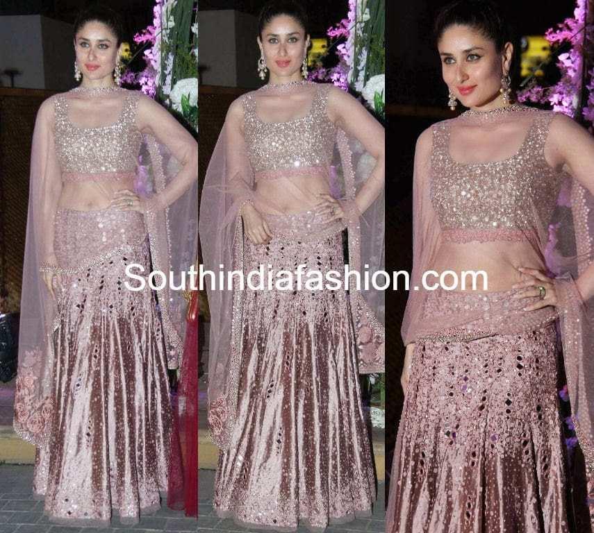 Kareena Kapoor in Mirror Work Lehenga - South India Fashion