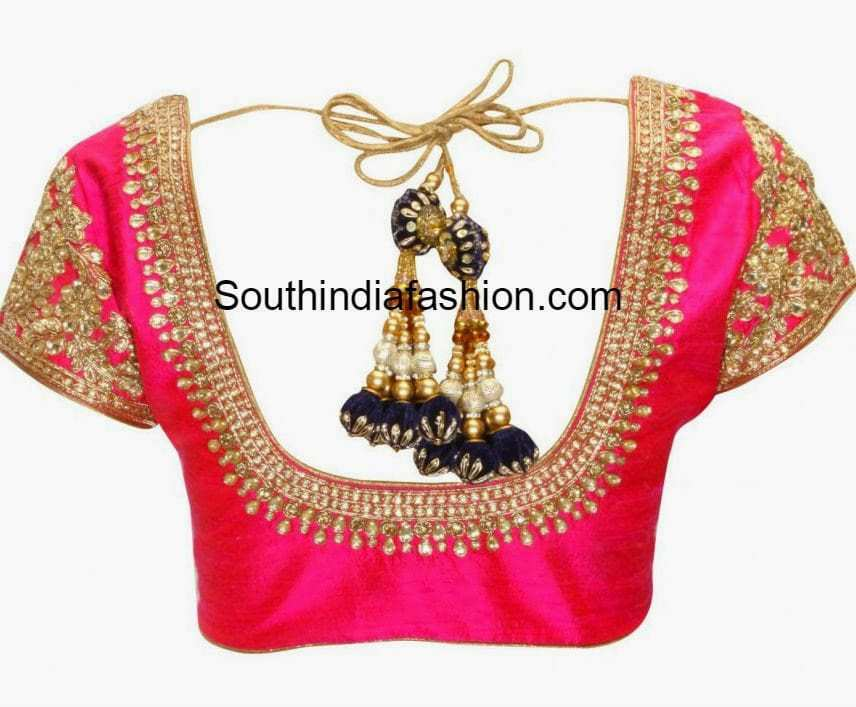 Beautiful Kundan Work Blouse • South India Fashion