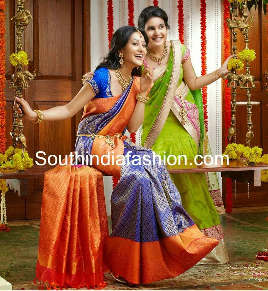 Gorgeous Wedding Silk Saree South India Fashion