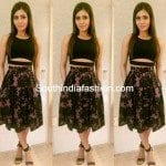 Samantha in Skirt and Crop Top