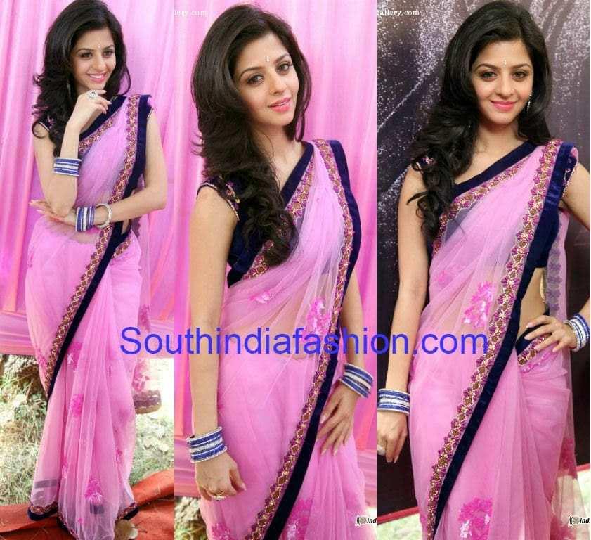 vedika in pink saree