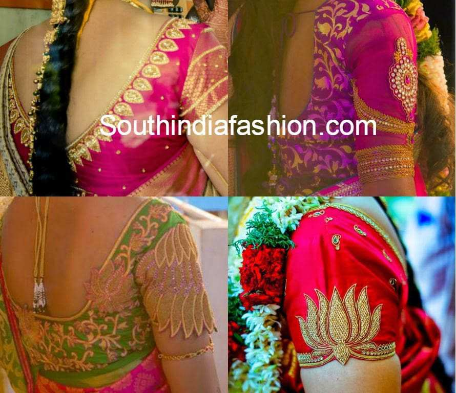 Silk saree blouse designs south india fashion