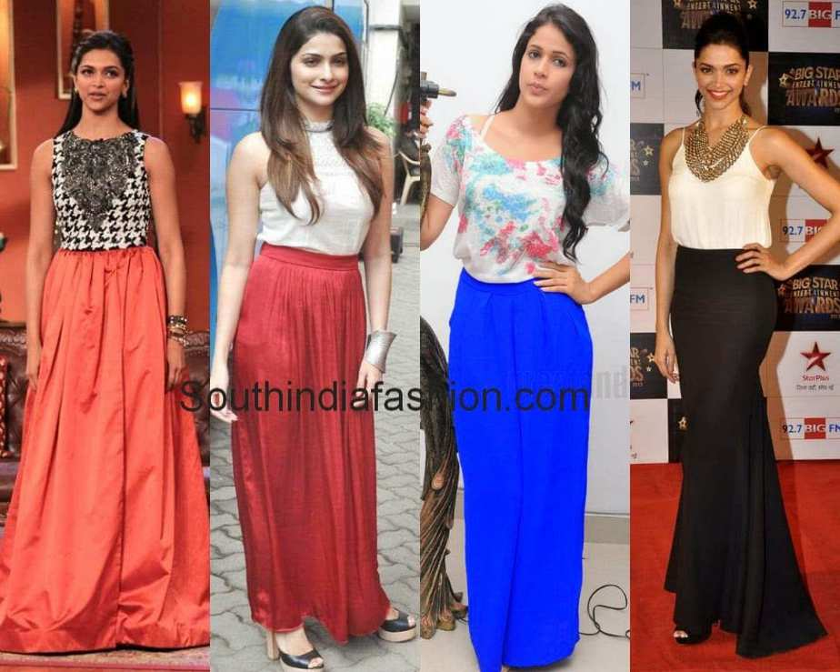 How To Wear And What To Wear With Long Skirts South India Fashion