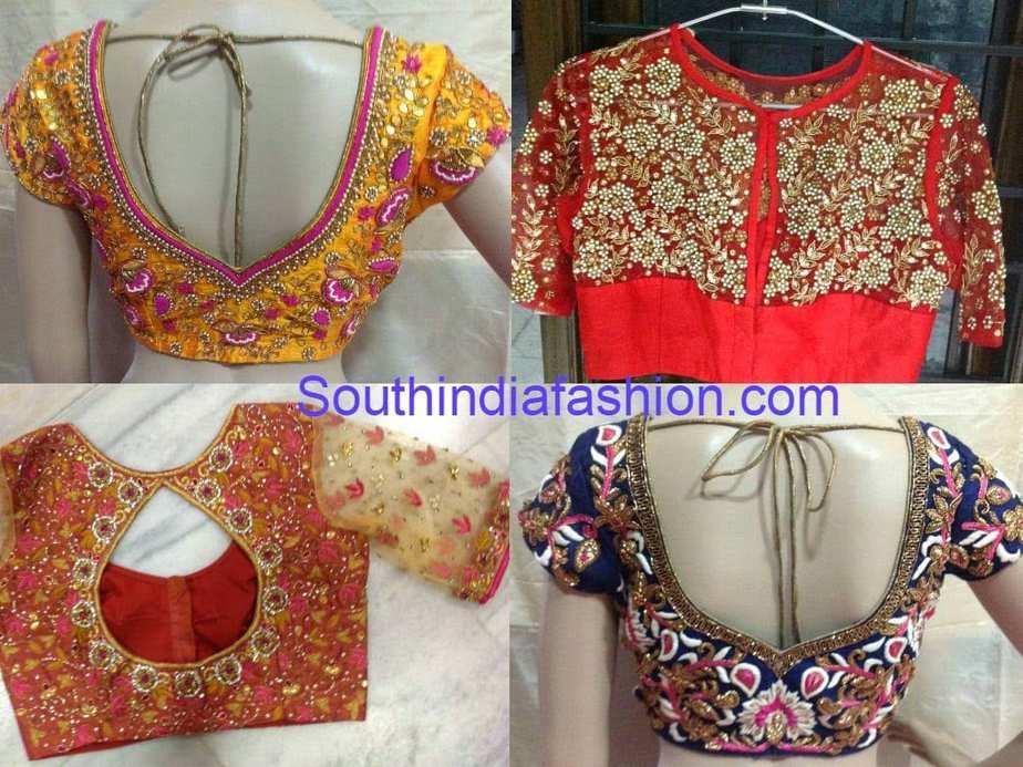 full work designer saree blouse